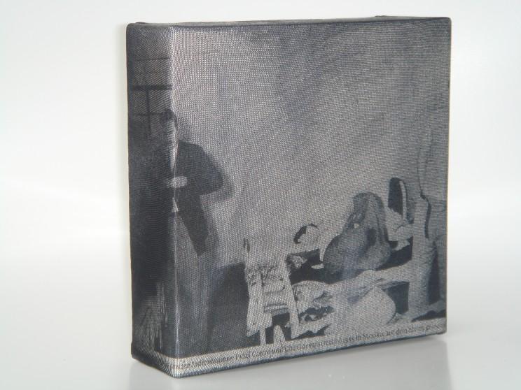 """che + fidel"" - acryl/mischtechnik auf leinwand - 15 x 15 cm"
