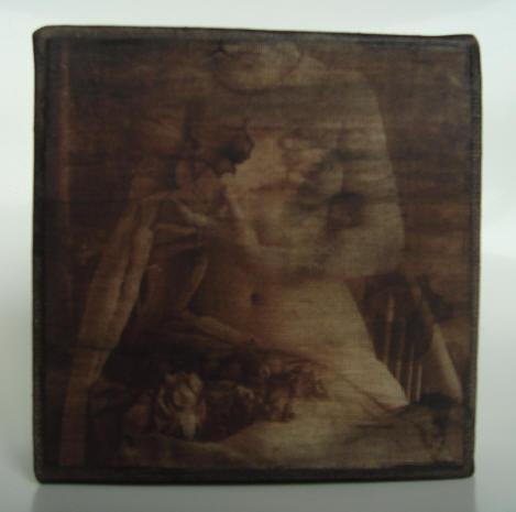 """""""die blumen"""" - acryl/mischtechnik auf leinwand - 10 x 10 x 4 cm"""