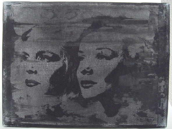 """holly girls"" - acryl/mischtechnik auf leinwand - 18 x 24 cm"