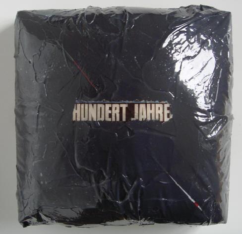 """""""hundert jahre"""" (flat jack) - acryl/mischtechnik auf leinwand - 20 x 20 x 15 cm"""