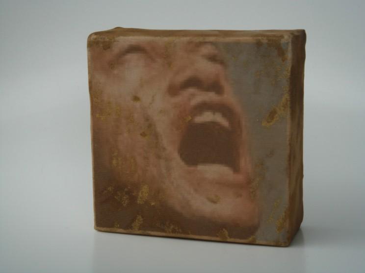 """morpheus"" - acryl/mischtechnik auf leinwand - 10 x 10 x 4 cm"