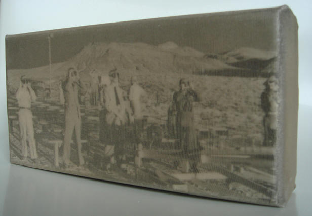 """nevada 15.5.55"" - acryl/mischtechnik auf leinwand - 10 x 20 x 4 cm"