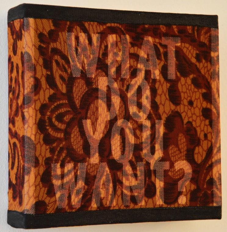 """""""o. t."""" (what do you want) - acryl/mischtechnik auf leinwand - 10 x 10 x 4 cm"""