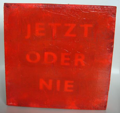 """o. t."" (jetzt) - acryl/mischtechnik auf leinwand - 20 x 20 cm"