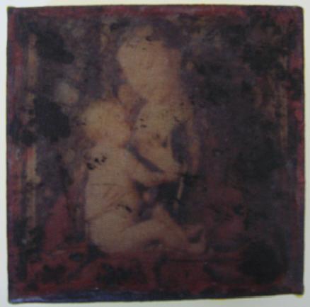 """""""o. t. (kelch)"""" - acryl/mischtechnik auf leinwand - 10 x 10 x 4 cm"""