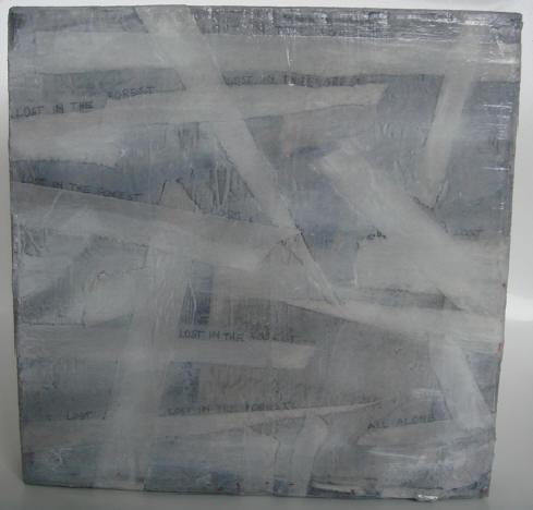 """""""o. t. (lost in forest)"""" - acryl/mischtechnik auf leinwand - 20 x 20 cm"""