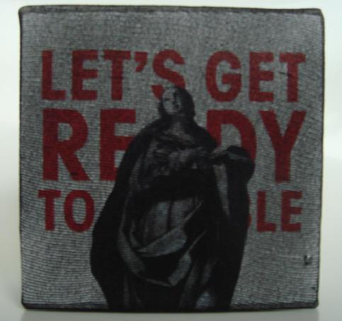 """rumble"" - acryl/mischtechnik auf leinwand - 10 x 10 x 4 cm"