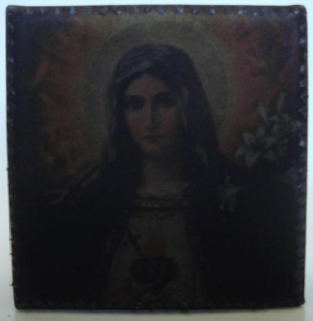 """schwarze madonna"" - acryl/mischtechnik auf leinwand - 10 x 10 x 4 cm"