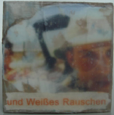 """the loathing"" - acryl/mischtechnik auf leinwand - 10 x 10 x 4 cm"