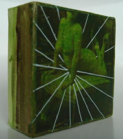 """ultra"" - acryl/mischtechnik auf leinwand - 10 x 10 x 4 cm"