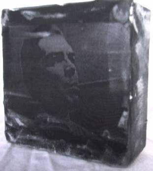 """che"" - acryl/mischtechnik auf leinwand - 10 x 10 x 4 cm"