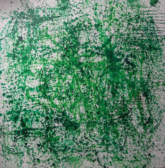 """garden"" - acryl auf leinwand - 60 x 60 cm"