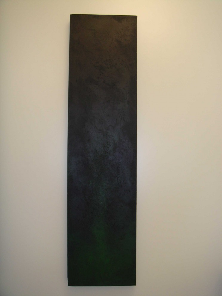 """gebt mir paris"" - acryl auf leinwand - 80 x 20 cm"
