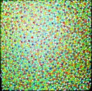 """""""get lost"""" - acryl auf leinwand - 20 x 20 cm"""