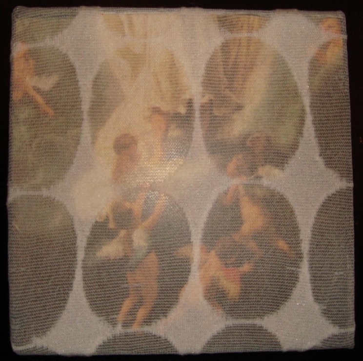 """himmelfahrt (christi)"" - acryl/mischtechnik auf leinwand - 10 x 10 x 4 cm"