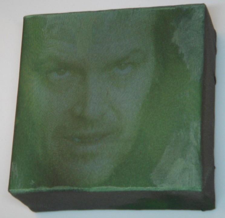 """jack!"" - acryl/mischtechnik auf leinwand - 10 x 10 x 4 cm"