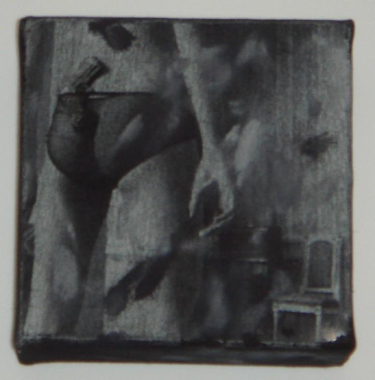 """""""janie"""" - acryl/mischtechnik auf leinwand - 10 x 10 x 4 cm"""
