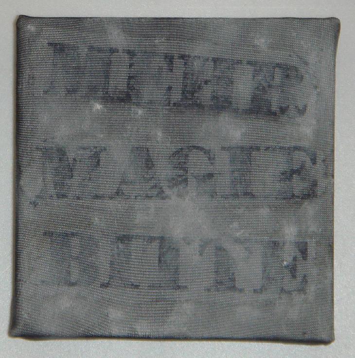 """""""mehr magie"""" - acryl/mischtechnik auf leinwand - 10 x 10 x 4 cm"""