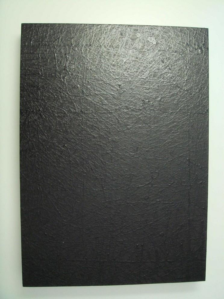 """nocturno"" - acryl/lack auf leinwand - 100 x 50 x 10 cm"