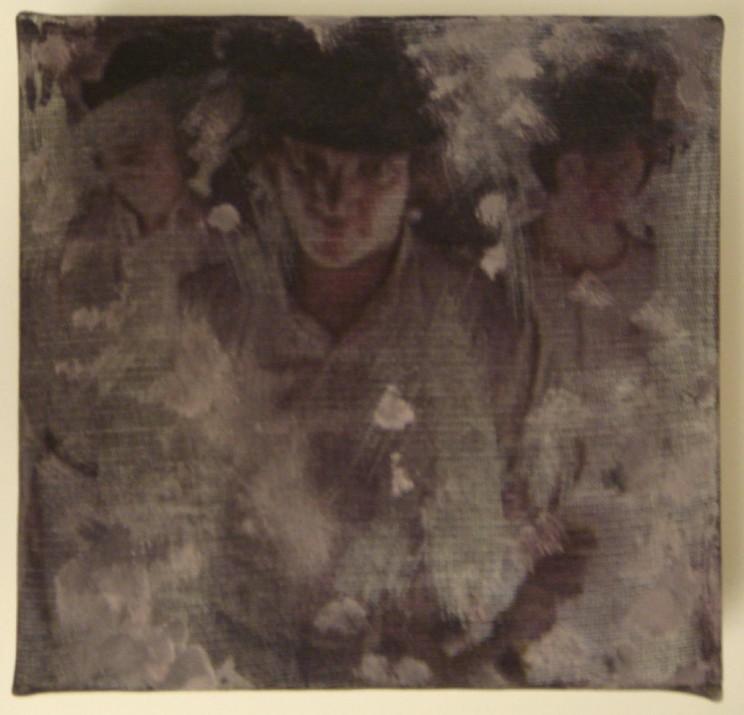 """""""o. t."""" (dukes) - acryl/mischtechnik auf leinwand - 10 x 10 x 4 cm"""