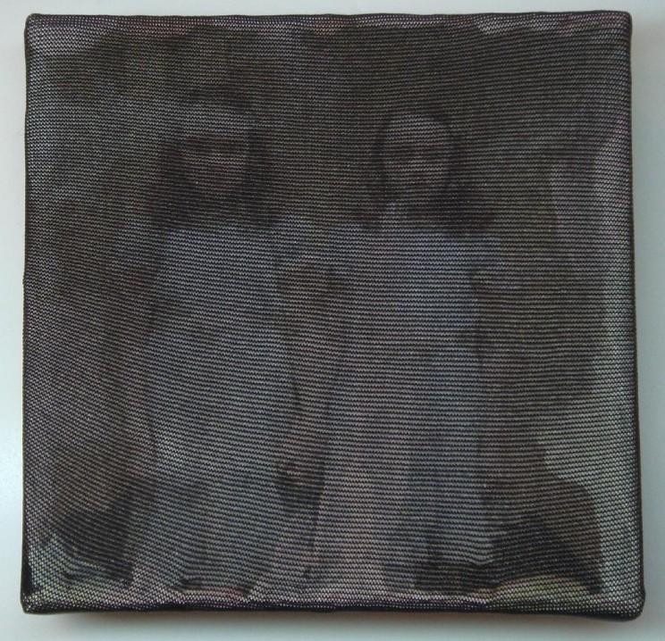 """""""o. t."""" (twins) - acryl/mischtechnik auf leinwand - 10 x 10 x 4 cm"""