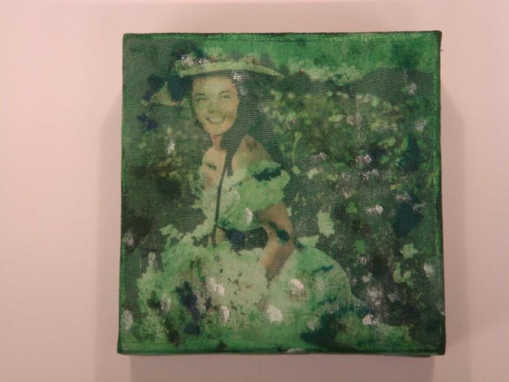 """o. t."" (sissi) - acryl/mischtechnik auf leinwand - 10 x 10 x 4 cm"