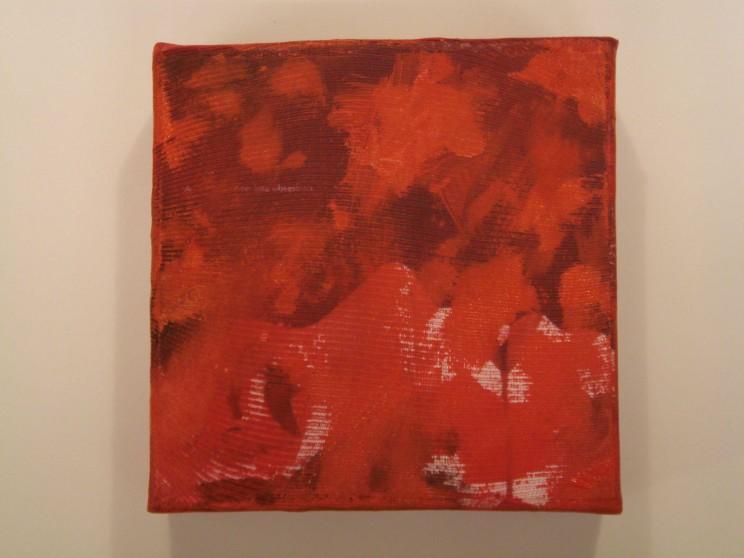 """o. t."" - acryl/mischtechnik auf leinwand - 10 x 10 x 4 cm"