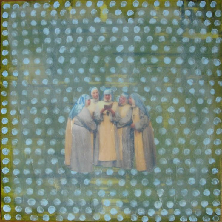 """""""o. t. (the sisters)"""" - acryl auf leinwand - 50 x 50 cm"""
