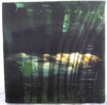 """""""ophelia"""" - acryl/mischtechnik auf leinwand - 10 x 10 x 4 cm"""