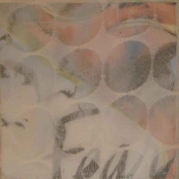 """""""raoul"""" - acryl/mischtechnik auf leinwand - 10 x 10 x 4 cm"""