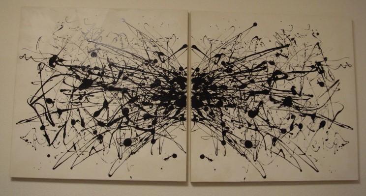 """spider"" - acryl auf leinwand - 2-teilig, je 110 x 110 cm"