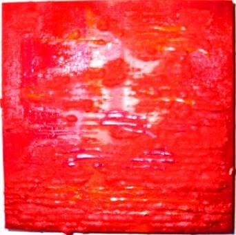 """strawberry field"" - acryl/mischtechnik auf leinwand - 20 x 20 cm"