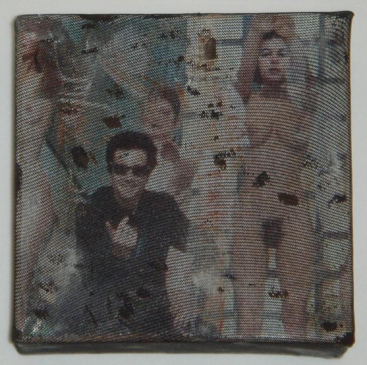 """teresas traum"" - acryl/mischtechnik auf leinwand - 10 x 10 x 4 cm"