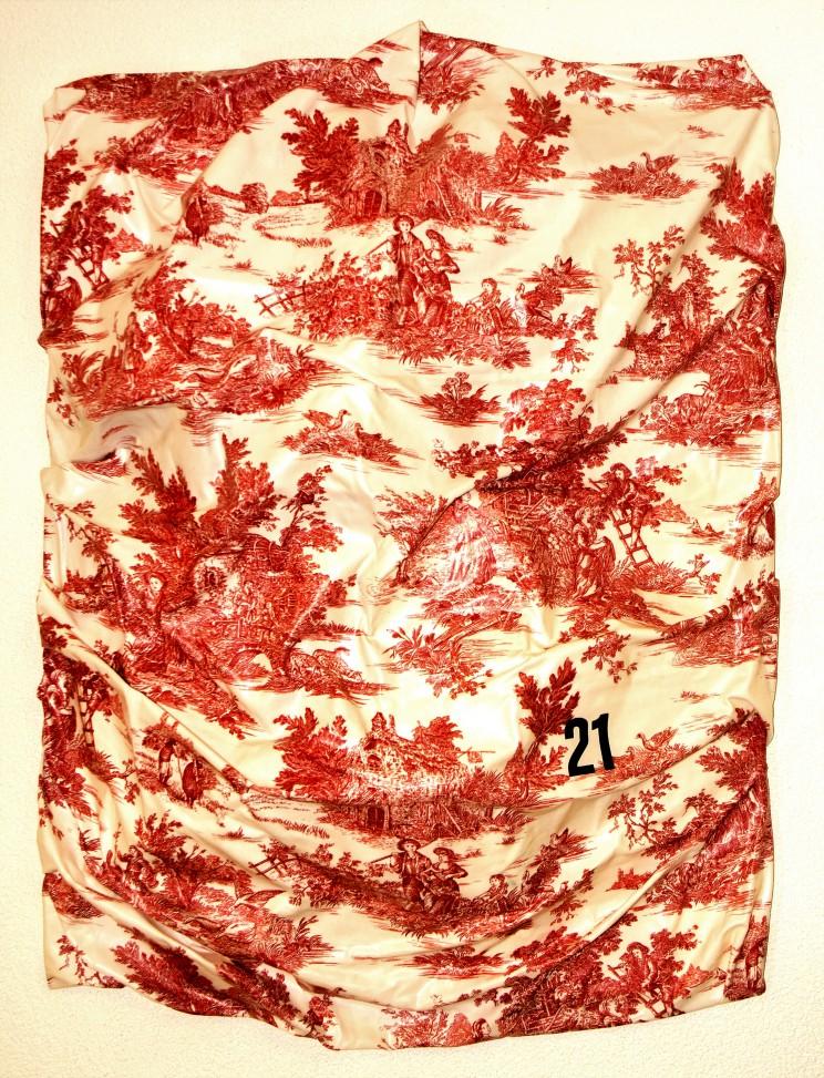 """newton """"21"""" - gewebe, kunstharz auf leinwand - 120 x 100 x 25 cm"""