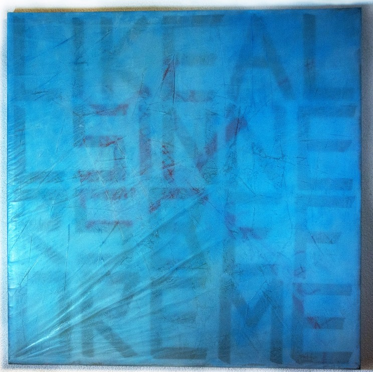 """like all sinners before me"" - mischtechnik auf leinwand - 100 x 100 cm"