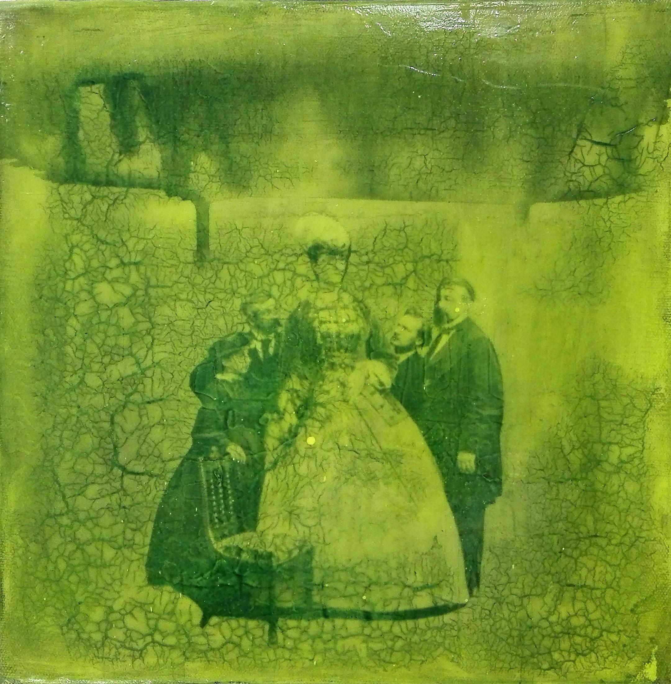"""""""o.t."""" - acryl, papier, kunstharz auf leinwand - 30 x 30 cm"""
