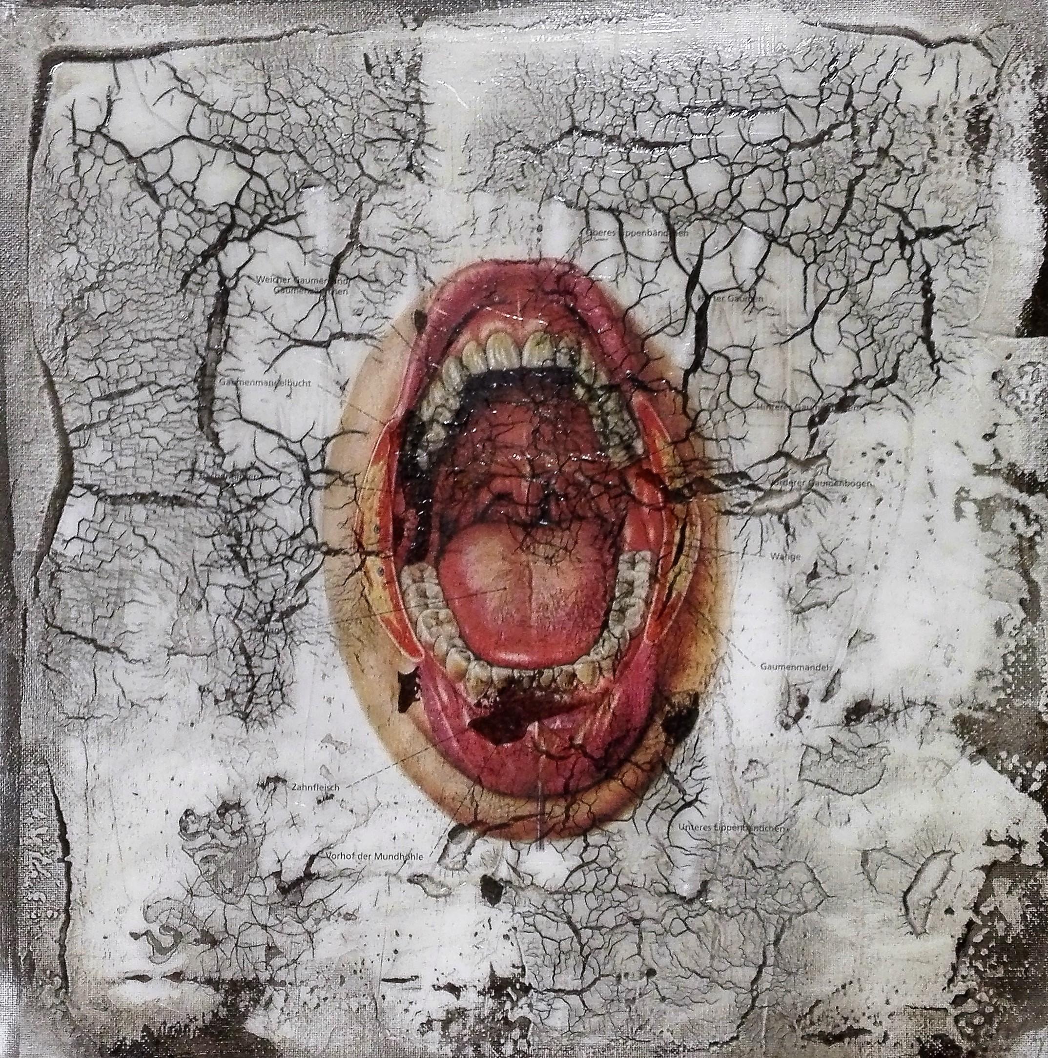 """""""ore"""" - acryl, papier, kunstharz auf leinwand - 30 x 30 cm"""
