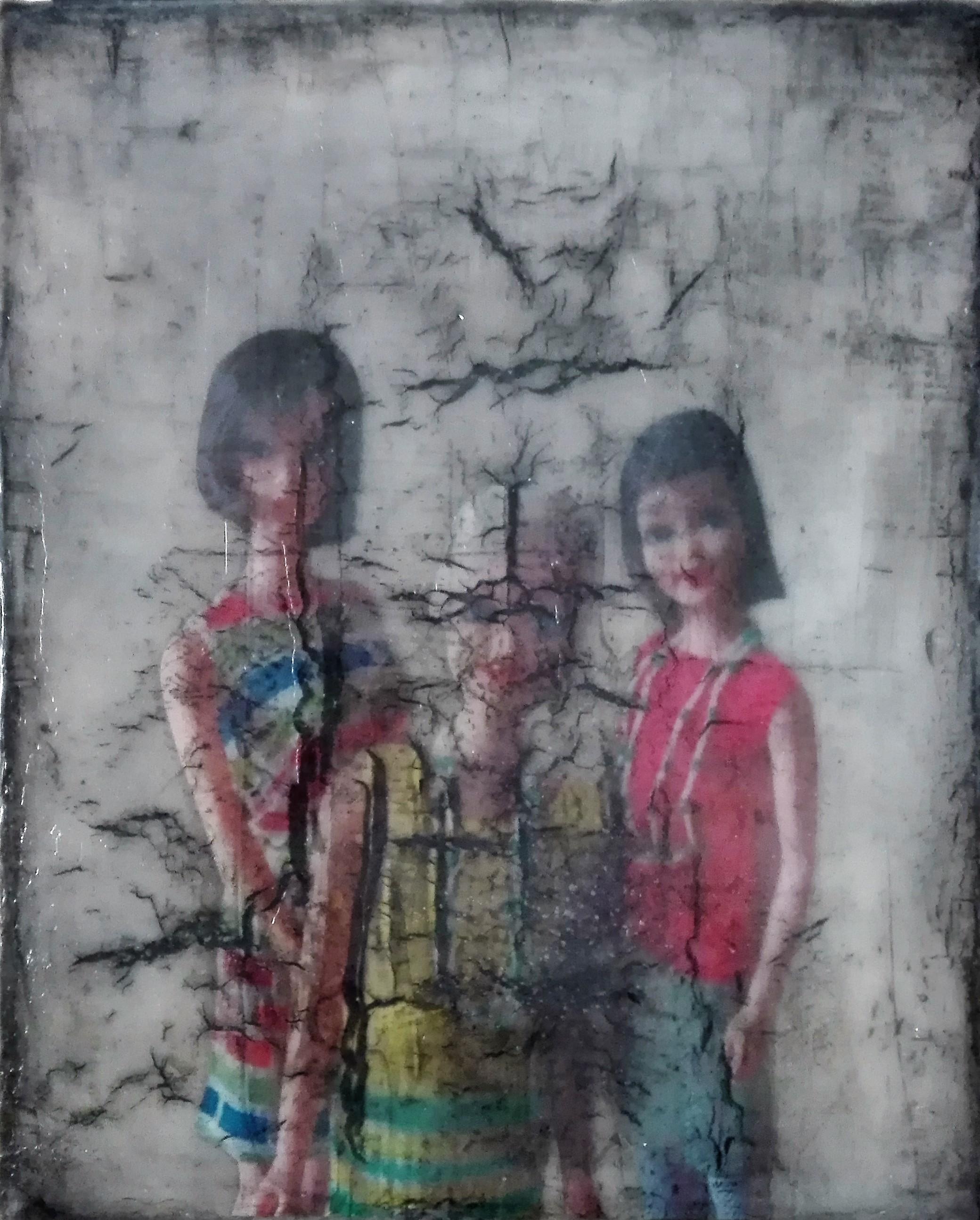 """""""o.t."""" - acryl, papier, kunstharz auf leinwand - 30 x 24 cm"""