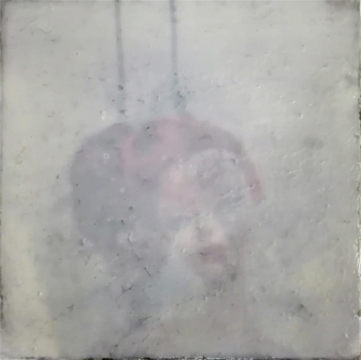 """""""forgotten innocence"""" - acryl, papier, kunstharz auf leinwand - 30 x 30 cm"""