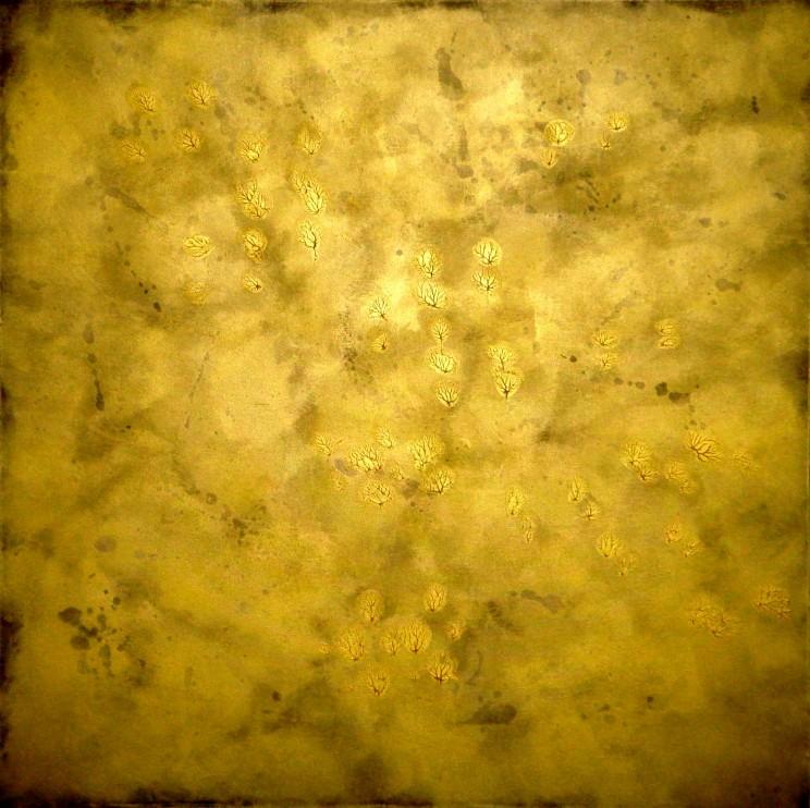 """""""die geschenkte stunde"""" - acryl auf leinwand - 100 x 100 cm"""
