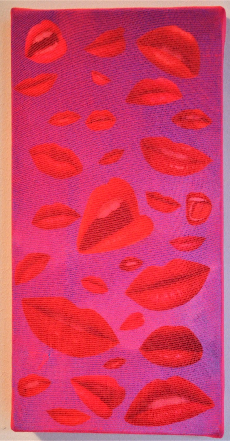 """o.t."" - acryl, gewebe, mischtechnik auf leinwand - 30 x 15 cm"