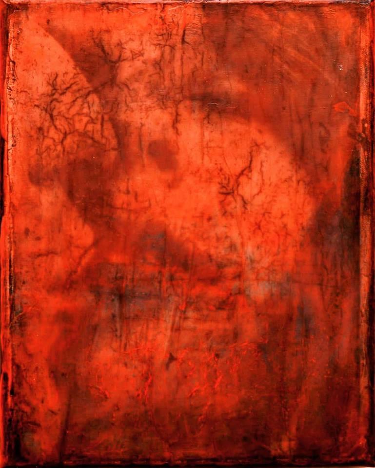 """""""ice road truckers"""", acryl, papier, kunstharz auf leinwand, 30 x 20 x 4 cm"""